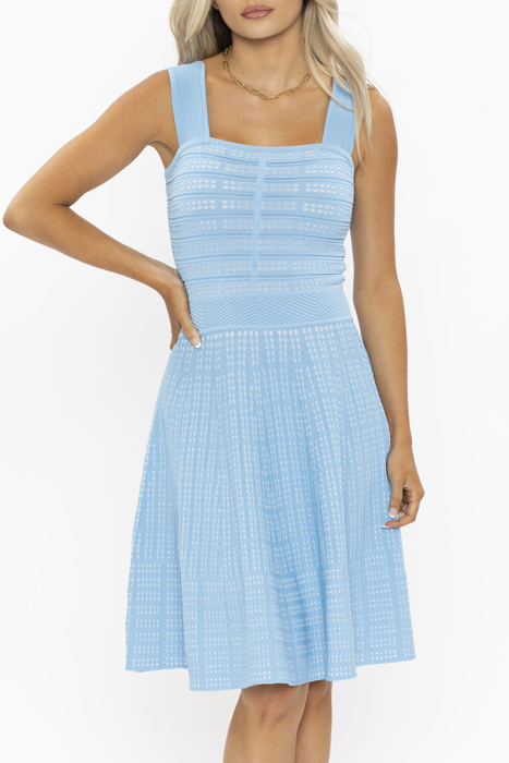 Picture of Shoshanna West Knit Blue Dress